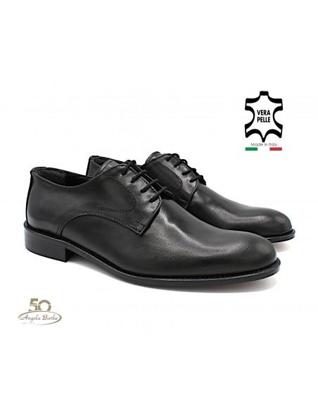 AB Scarpe da uomo classiche elegandi per cerimonia in pelle Nero 38020