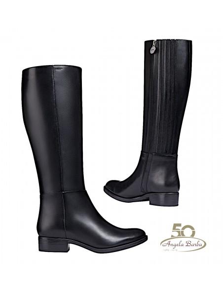 Geox stivali da donna in pelle Nero con elastico Felicity D84G1D