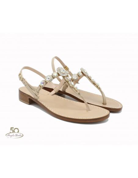 Sandali Artigianali da donna in cuoio gioiello fatti a mano moda Capri Positano Dea