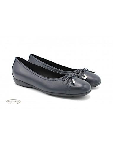 Geox scarpe da donna ballerine basse in pelle blu D947NE Annytah