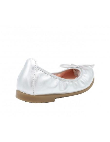 Gioseppo scarpe ballerina da bambina ragazza in pelle argento Penza