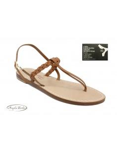 Sandali Artigianali da donna bassi intrecciati in vero cuoio pelle moda Capri Positano