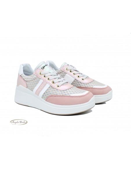 Igi & Co. scarpe da donna con zeppa sneakers Cipria 5166888