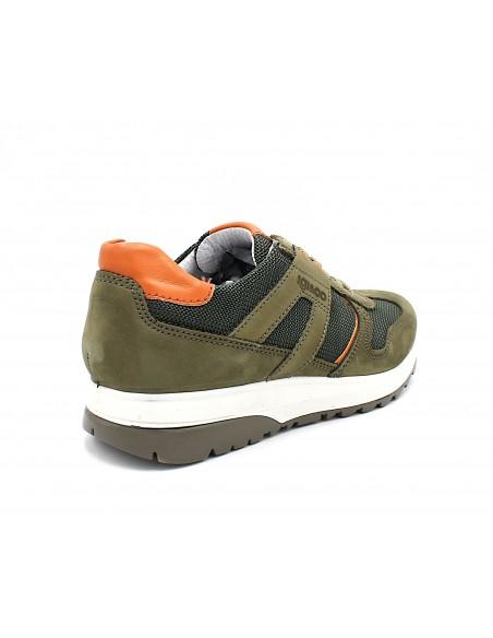Igi & Co. scarpe da uomo in tela e pelle sneakers Azzurro 5129611