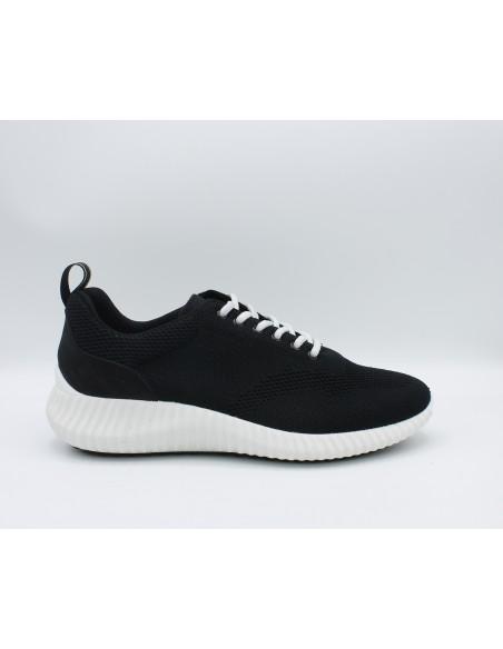 Igi & Co. scarpe da uomo in tela nero sneakers memory foam 5123422