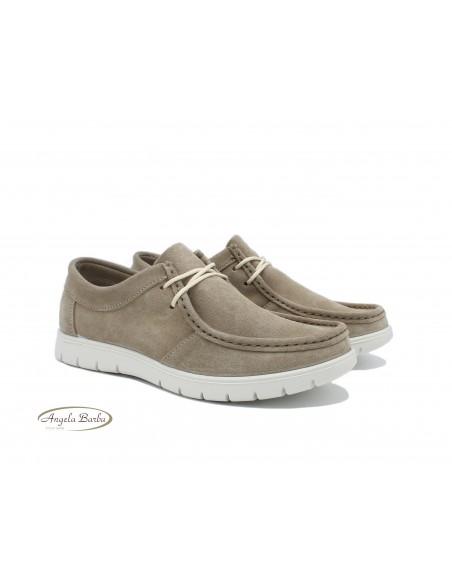 Igi & Co. scarpe da uomo in camoscio tortora casual sportive 5115511