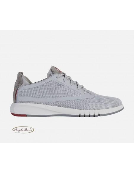 Geox scarpe da uomo Aerantin grigio U027FD sneakers
