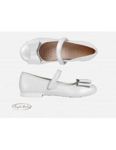 Geox scarpe bambina eleganti cerimonia comunione bianco Pliè J0255B