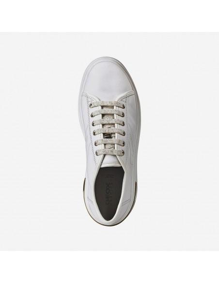 Geox scarpe da donna in pelle con lacci Ottaya D92BYA