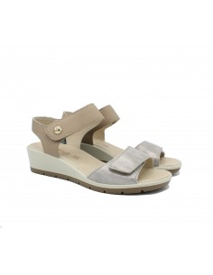Enval Soft sandali donna comodi in pelle beige 5280622