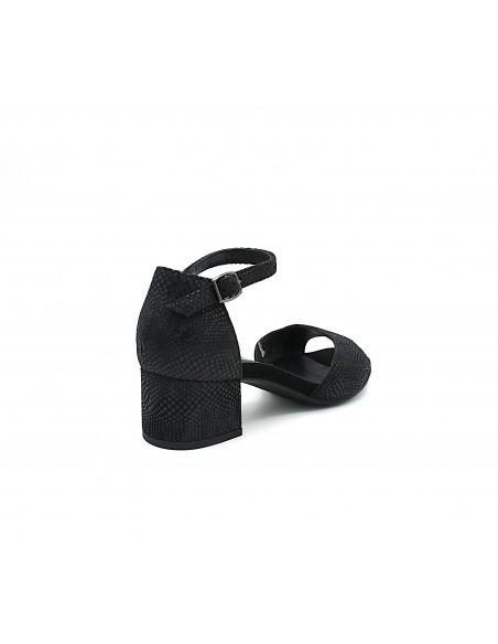 Igi & Co. sandali da donna in camoscio nero con tacco 5189800