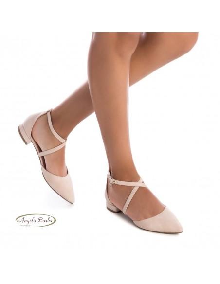 XTI scarpe da donna basse con cinturini beige 35191
