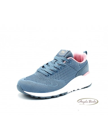 XTI sneakers da donna in tela color jeans scarpe sportive 49911