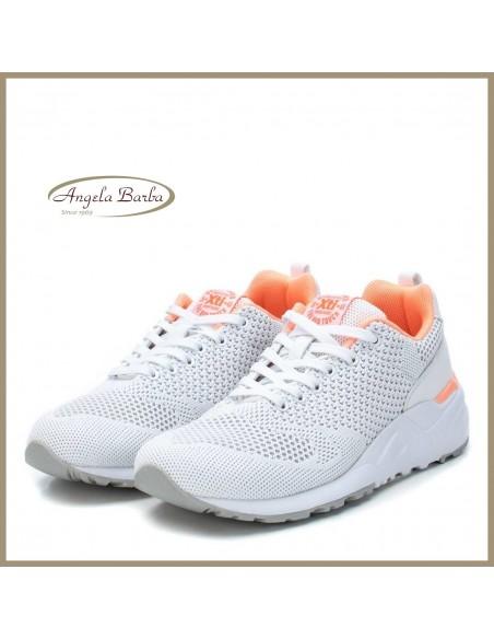 XTI sneakers da donna in tela bianco scarpe sportive 49911