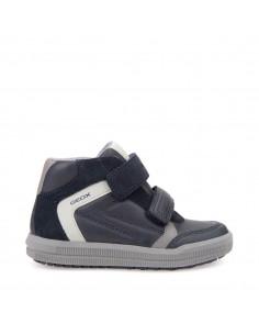 Geox scarpe junior bimbi sneakers alte linea arzach in pelle con strappi J744AB