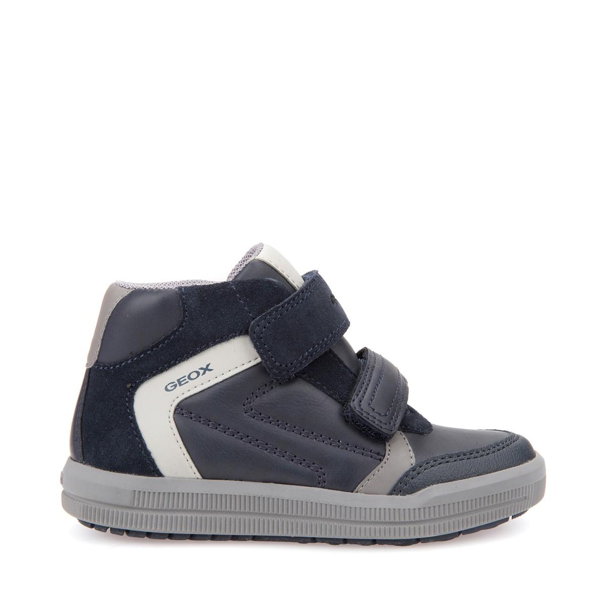 Geox scarpe junior bimbi sneakers alte linea arzach in pelle