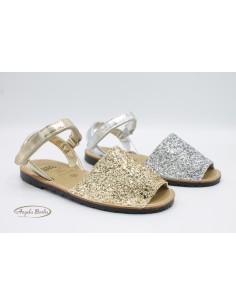 Gioseppo sandali da bambina minorchine scarpe Glitter Argento Oro Altha