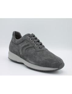 Geox scarpe uomo sneakers in camoscio antracite modello happy art. U4356H