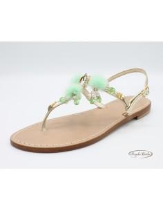 Sandali Artigianali in cuoio da donna fatti a mano moda capri positano