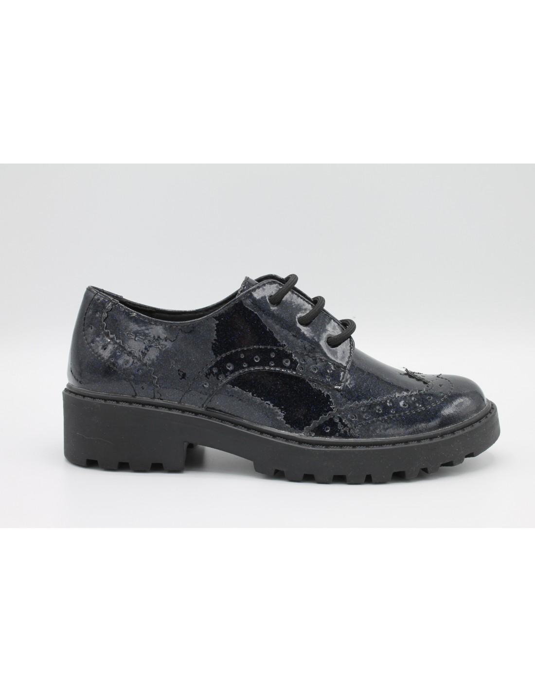 the latest cbe42 c47a7 Geox scarpe bimba/ragazza/donna glitter navy derby inglesina linea Casey  J6420K - Angela Barba