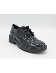 Geox scarpe bimba/ragazza/donna glitter navy derby inglesina linea Casey J6420K
