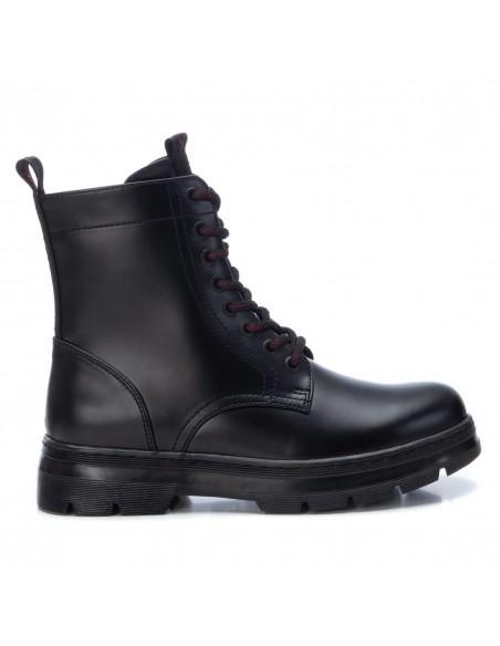 XTI scarpe donna stivali anfibi bikers stivaletti militari neri 44406