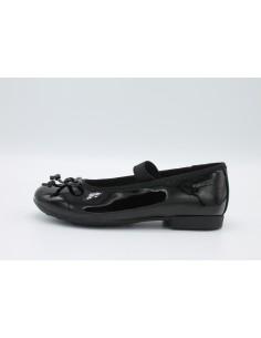 Geox scarpe bimba, ballerine con elastico in vernice nero linea Pliè J5455I
