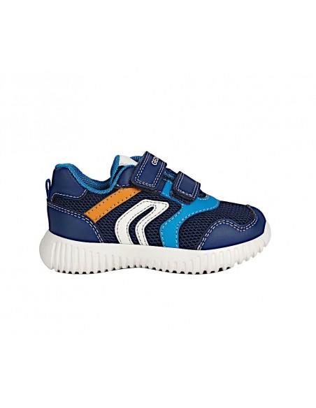 Geox scarpe da bambino in tela con strappi sneakers B022BA Waviness