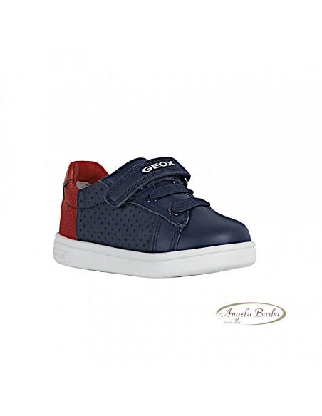 Geox scarpe da bambino primi passi in pelle Navy Red con strappo B022CB