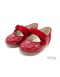 Mayoral scarpe da bambina eleganti ballerine per cerimonia Rosso 42118