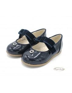 Mayoral scarpe da bambina eleganti ballerine per cerimonia Blu 42118