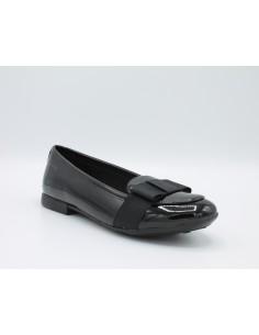 Geox ragazza/donna ballerine vernice nero con fiocco groren linea Pliè J6455D