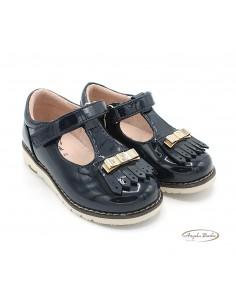 Mayoral scarpe per cerimonia da bambina in pelle lucida Blu 42126