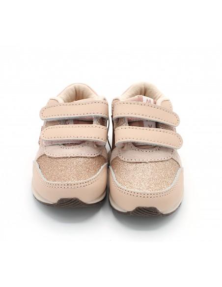 Mayoral scarpe da bambina sneakers con strappi rosa primi passi 42148