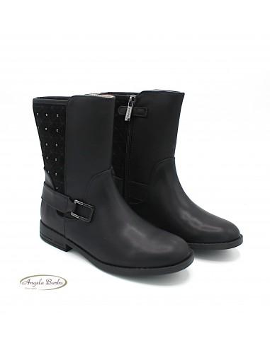 Mayoral stivali da bambina ragazza nero con borchie 46153 46139