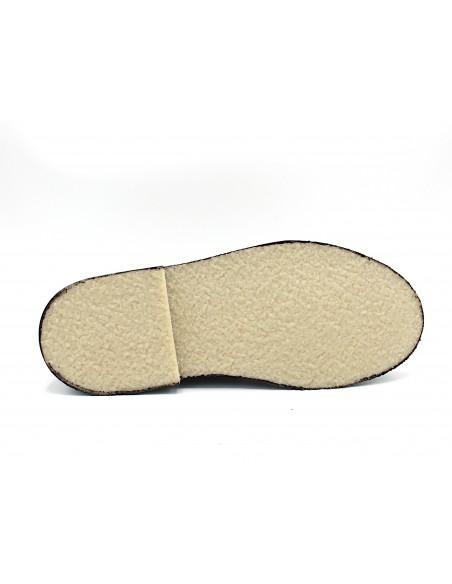 Scarpe da uomo in camoscio testa di moro polacchine tipo clarks