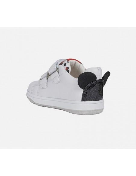 Geox scarpe da bambina in pelle Minnie con strappi Disney bianco B021HB