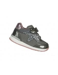 Geox scarpe da bambina primi passi in pelle grigio B040LA Rishon
