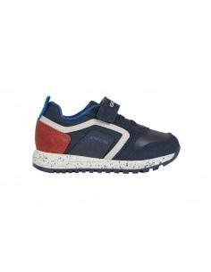 Geox scarpe da bambino sneakers con strappo Blu Alben B043CC