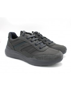 Geox scarpe da uomo in pelle grigio sneakers Allenio U04AZB