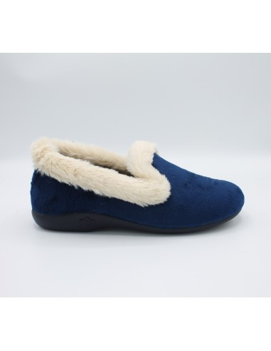 Sabatini pantofole da donna scarpe chiuse per casa Blu S4121