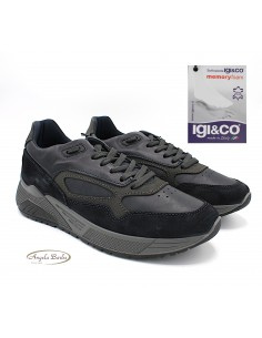 Igi & Co. scarpe da uomo in pelle sneakers memory foam 4136300