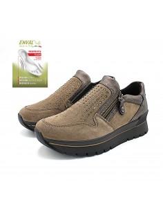 Enval Soft scarpe da donna in camoscio fango mocassini 6282122