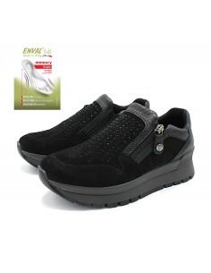 Enval Soft scarpe da donna in camoscio nero memory foam sneaker 6282100