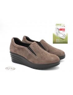 Enval Soft scarpe da donna in camoscio mocassini con zeppa 6275022