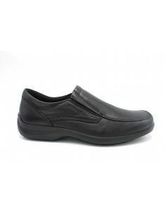 Enval Soft scarpe da uomo mocassini accollati in pelle nero memory foam 6206900