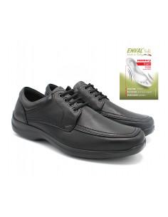 Enval Soft scarpe da uomo in pelle nero con lacci classiche memory foam 6207000