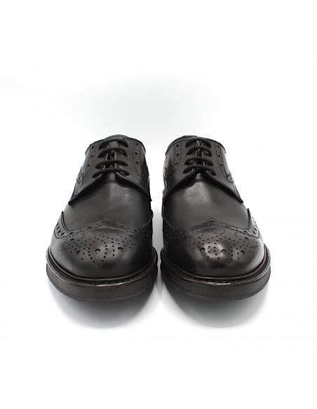 Scarpe da uomo eleganti in vera pelle testa di moro classiche derby 18010