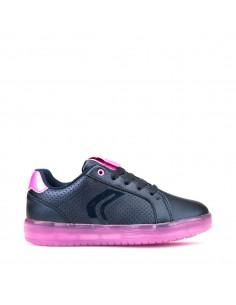 Geox junior scarpe con luci led colorate ricaricabili cavo usb Kommodore J744HA