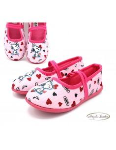 Snoopy pantofole da bambina scarpe per la casa calde Rosa Fuxia